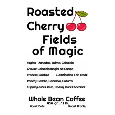 Roasted Cherry Whole Bean Colombia - Field of Magic (1lb)