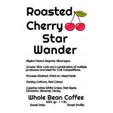 Roasted Cherry Whole Bean Nicaragua - Star Wander (1lb)