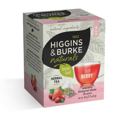 Higgins & Burke Naturals Loose Leaf Tea Bags - Lush Berry